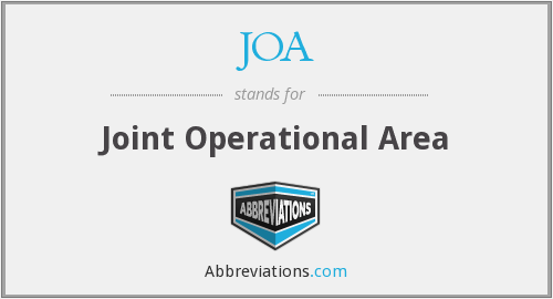JOA - Joint Operational Area