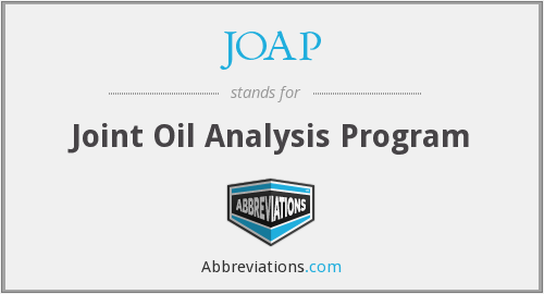 JOAP - Joint Oil Analysis Program
