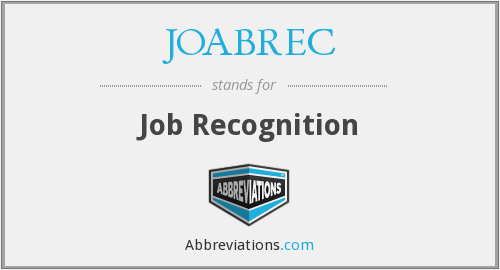 JOABREC - Job Recognition
