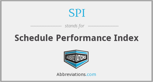 SPI - Schedule Performance Index