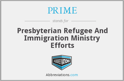 PRIME - Presbyterian Refugee And Immigration Ministry Efforts