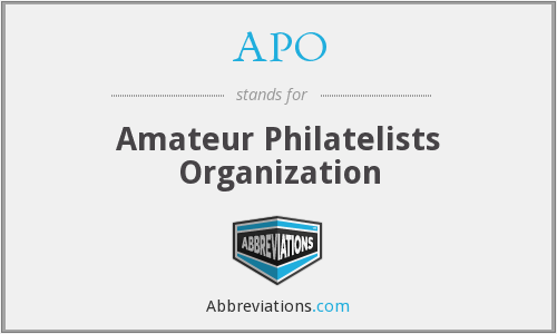 APO - Amateur Philatelists Organization