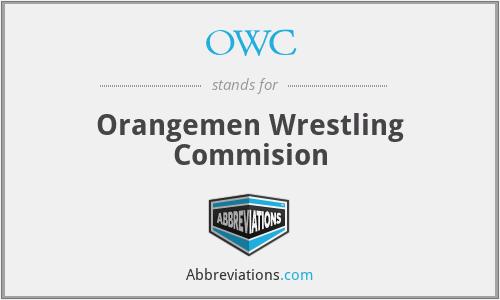 OWC - Orangemen Wrestling Commision