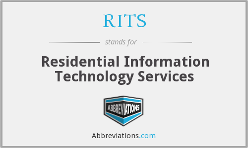 RITS - Residential Information Technology Services