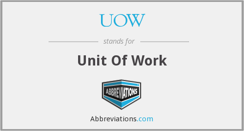 UOW - Unit Of Work