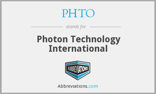 PHTO - Photon Technology International