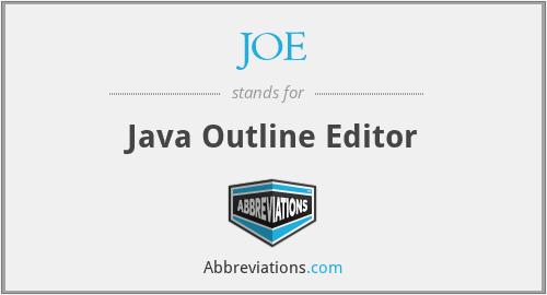 JOE - Java Outline Editor