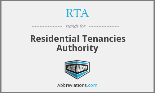 RTA - Residential Tenancies Authority