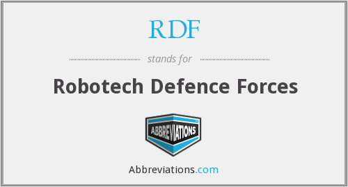 RDF - Robotech Defence Forces