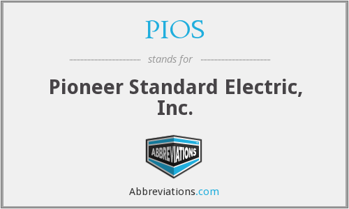 PIOS - Pioneer Standard Electric, Inc.