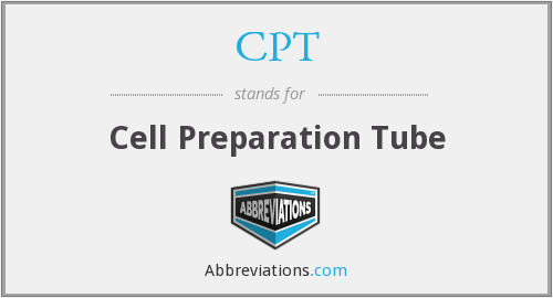 CPT - Cell Preparation Tube