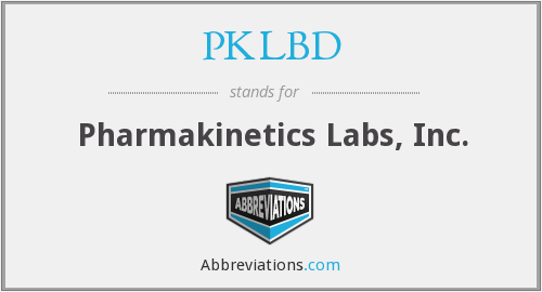 What does PKLBD stand for?