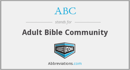 ABC - Adult Bible Community