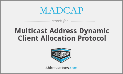 What does MADCAP stand for?