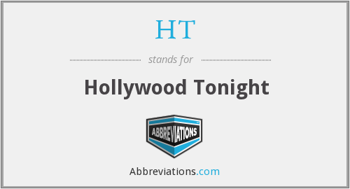 HT - Hollywood Tonight