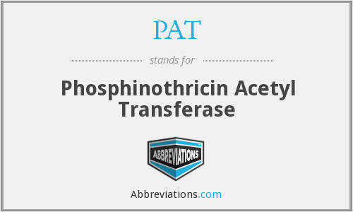 PAT - Phosphinothricin Acetyl Transferase