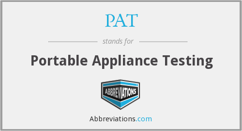 PAT - Portable Appliance Testing