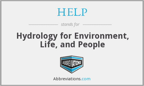 HELP - Hydrology for Environment, Life, and People