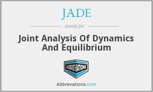 JADE - Joint Analysis Of Dynamics And Equilibrium