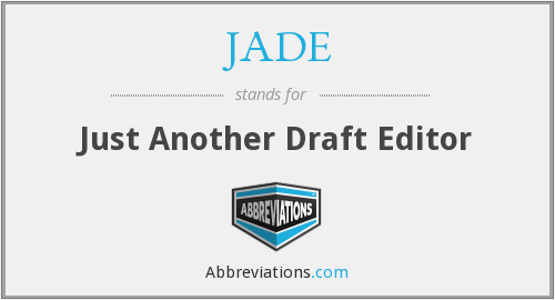 JADE - Just Another Draft Editor