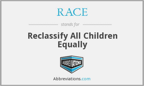What does RACE stand for?