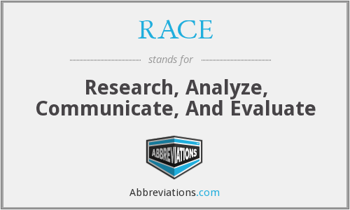 RACE - Research, Analyze, Communicate, And Evaluate