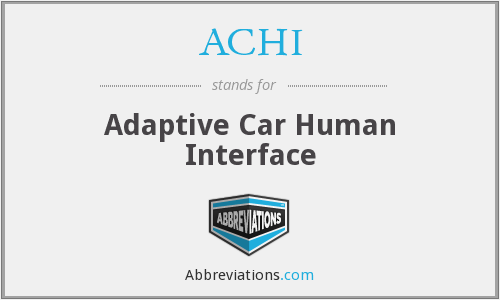 ACHI - Adaptive Car Human Interface