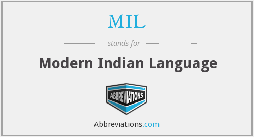 MIL - Modern Indian Language