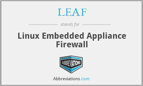 LEAF - Linux Embedded Appliance Firewall