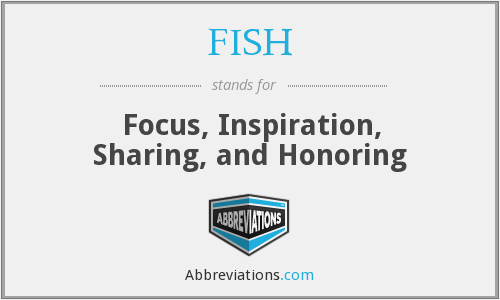 FISH - Focus, Inspiration, Sharing, and Honoring