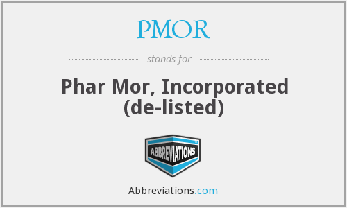 What does PMOR stand for?