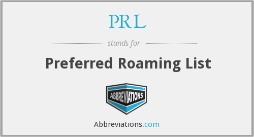 PRL - Preferred Roaming List