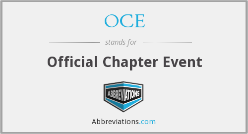 OCE - Official Chapter Event