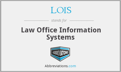 LOIS - Law Office Information Systems