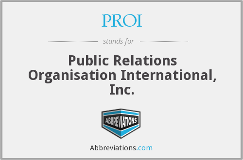 What does PROI stand for?