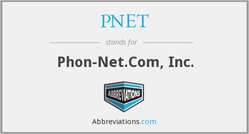 What does PNET stand for?