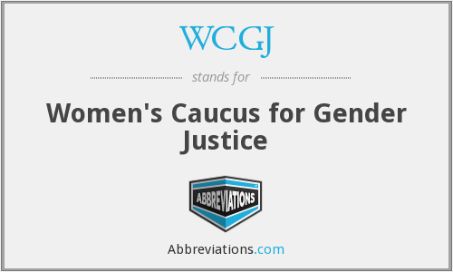 What does WCGJ stand for?