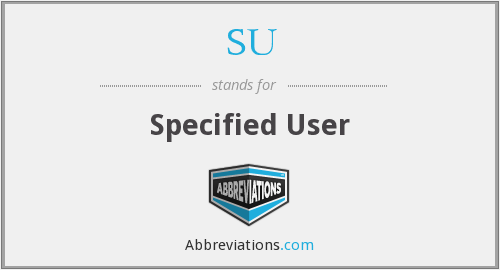 SU - Specified User