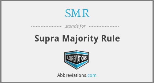 SMR - Supra Majority Rule