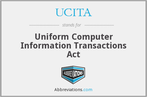 uniform computer information transactions act ucita essay Objectives after studying this chapter, you should be able to: describe the laws that apply to e-mail contracts, e-commerce, and web contracts describe e-licensing and the provisions of the uniform computer information transactions act (ucita.