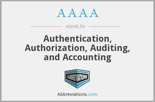 AAAA - Authentication, Authorization, Auditing, and Accounting