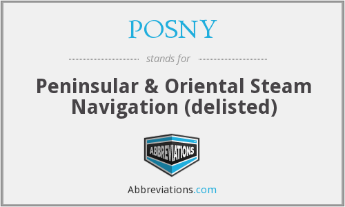 What does POSNY stand for?