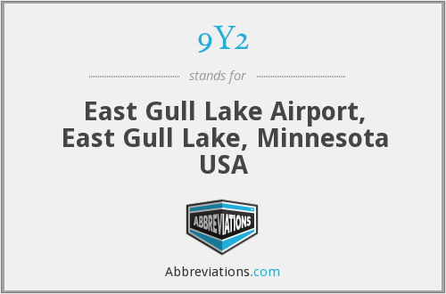 9Y2 - East Gull Lake Airport, East Gull Lake, Minnesota USA