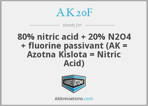 What does AK20F stand for?