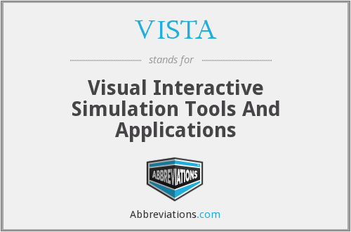 VISTA - Visual Interactive Simulation Tools And Applications