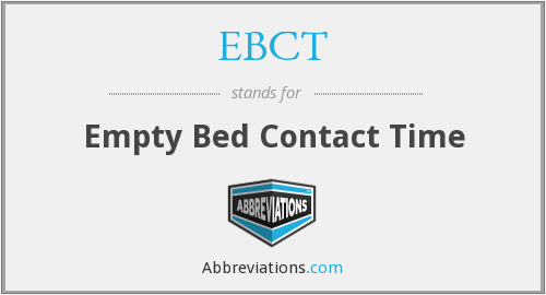 EBCT - Empty Bed Contact Time
