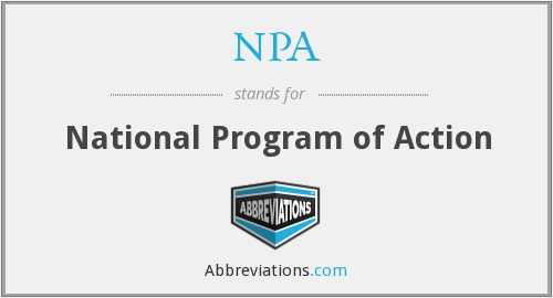 NPA - National Program of Action