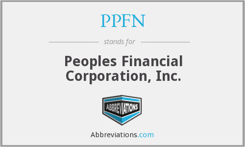 PPFN - Peoples Financial Corporation, Inc.