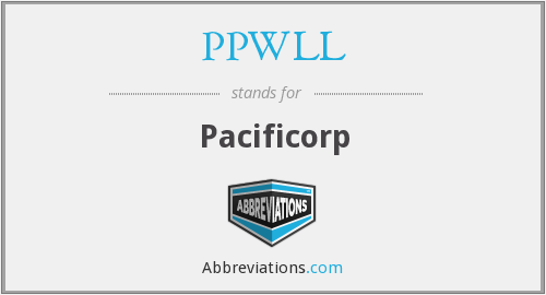 PPWLL - Pacificorp