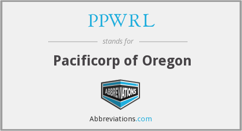 What does PPWRL stand for?